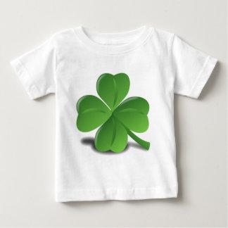 3D vierblättriges Kleeblatt Baby T-shirt