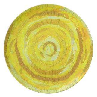 3rd-Solar heilende Grafik des Plexus-Chakra-#2 Melaminteller