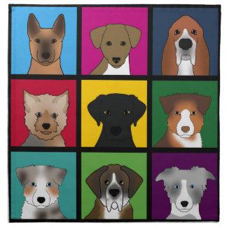 3x3 Hunde Stoffserviette