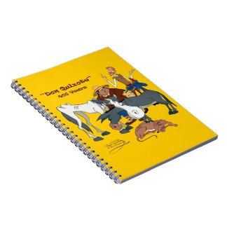 400 Jahre Don Quichote @QUIXOTEdotTV Spiral Notizbücher