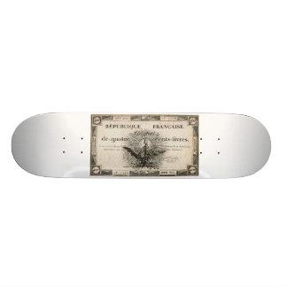 400 Livre-Französische Revolution Assignat Personalisiertes Skateboarddeck