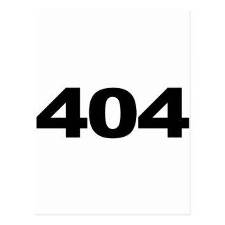 404: Nicht gefunden Postkarte