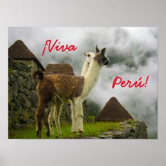 40.64cm x 30.48cm ¡ Viva Perú! Küssen des Poster