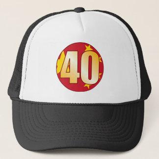 40 CHINA Gold Truckerkappe