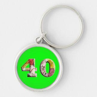 40 des 40. Geburtstags-Jahre Meilenstein-Keychain Schlüsselanhänger