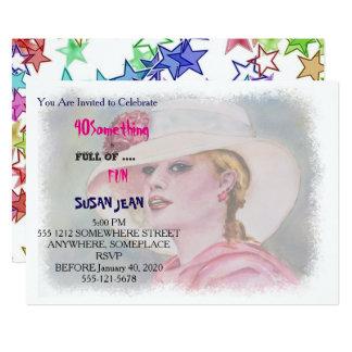 40 ETWAS u. voll von der Spaß-Garten-Party 12,7 X 17,8 Cm Einladungskarte