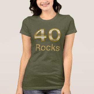 40 Felsen Bling T-Shirt