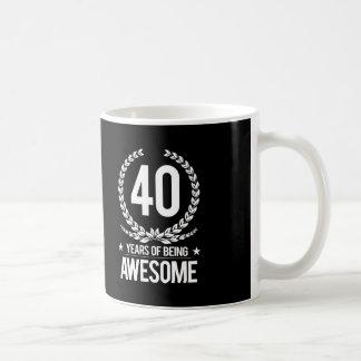 40. Geburtstag (40 Jahre des Seins fantastisch) Kaffeetasse