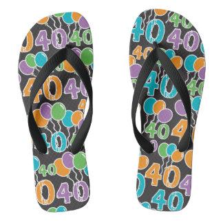 40. Geburtstag bunt Flip Flops