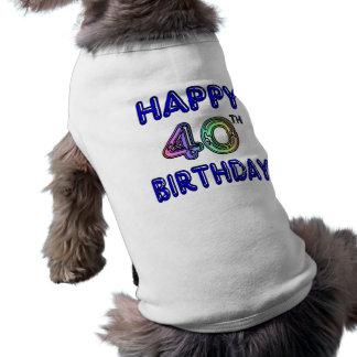 40. Geburtstag mit Ballon-Schriftart Hundekleidung