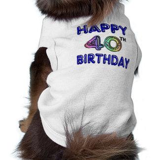 40. Geburtstag mit Ballon-Schriftart Haustier T-shirts