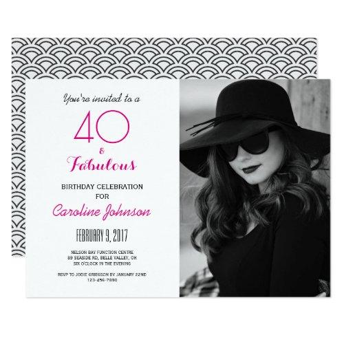Party einladung 40