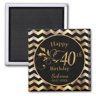 40. Geburtstag Quadratischer Magnet