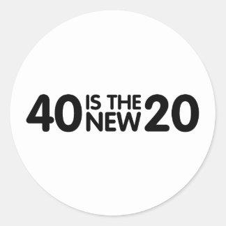 40. Geburtstag Runder Aufkleber