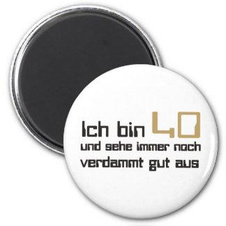 40. Geburtstag Runder Magnet 5,1 Cm