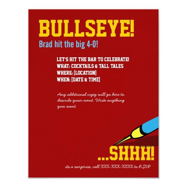 Geburtstag   Ziel Bullaugen Einladung 10,8 X 14 Cm Einladungskarte | Zazzle