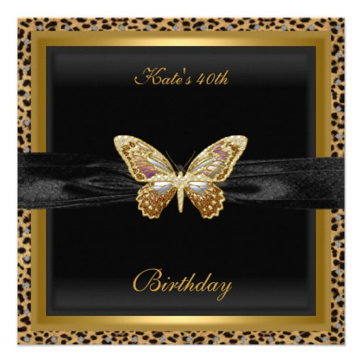 40. Geburtstags-eleganter Einladungskarte