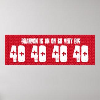 40 Geburtstags-Fahnen-individueller Name und Plakate