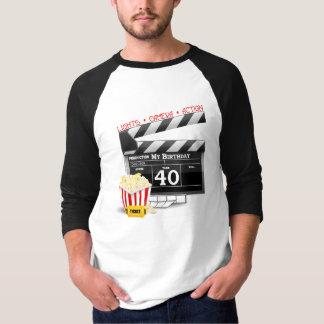 40. Geburtstags-Film-Geburtstags-Party T-Shirt