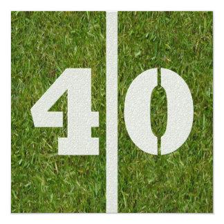 40. Geburtstags-Fußball-Party Einladung