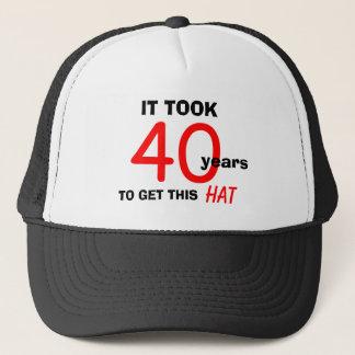 40. Geburtstags-Gag-Geschenk-Hut für Männer Truckerkappe