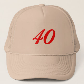 40. Geburtstags-Geschenke der Nr.-vierzig Truckerkappe