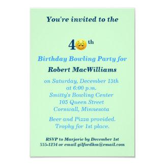 40. Geburtstags-glückliche Gesichts-Party 8,9 X 12,7 Cm Einladungskarte
