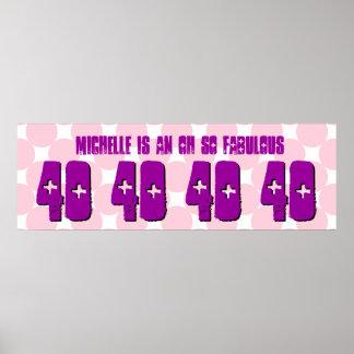 40 Geburtstags-kreist kundenspezifisches Plakatdruck