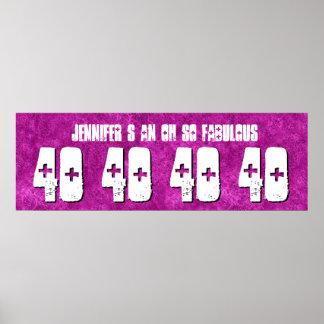 40. Geburtstags-kundenspezifische Poster