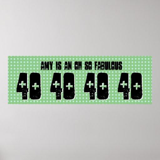 40. Geburtstags-kundenspezifische Plakatdrucke