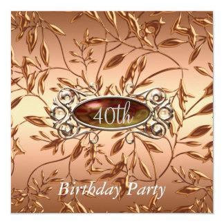 40. Geburtstags-Party Einladung verlässt Ocre