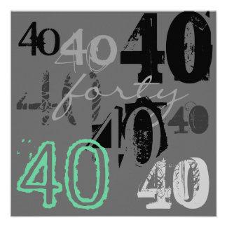 40. Geburtstags-Party Einladungen