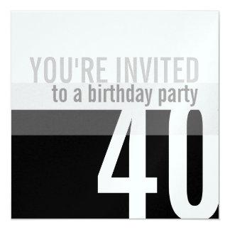40. Geburtstags-Party Einladungen {Silber}