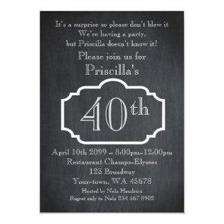 40., Geburtstags-Party-Frau, Frau irgendein Alter, Karte