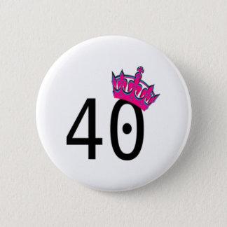 40. Geburtstags-Prinzessin Runder Button 5,1 Cm