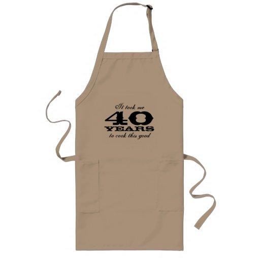 40. Geburtstags-Schürze für Männer mit niedlichem