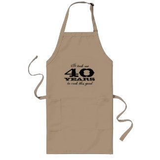 40. Geburtstags-Schürze für Männer mit niedlichem Lange Schürze