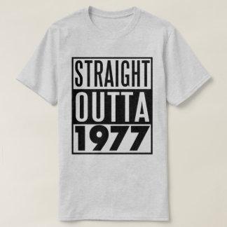 40. Geburtstags-T - Shirt gerades Outta 1977