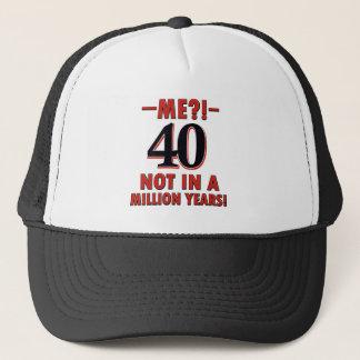 40 Geburtstagsentwürfe Truckerkappe