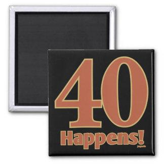 40 geschieht! - ROSA Quadratischer Magnet