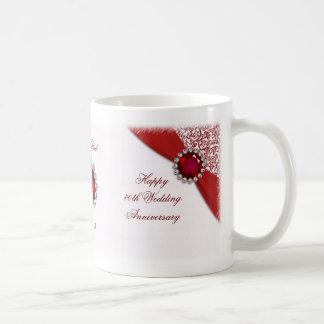 40. Hochzeits-Jahrestags-Tasse Tasse