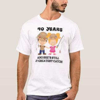 40. Hochzeitstag-Geschenk für ihn T-Shirt