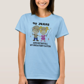 40. Hochzeitstag-Geschenk für sie T-Shirt
