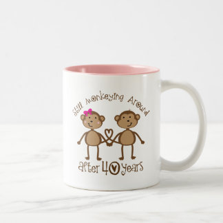40. Hochzeitstag-Geschenke Zweifarbige Tasse