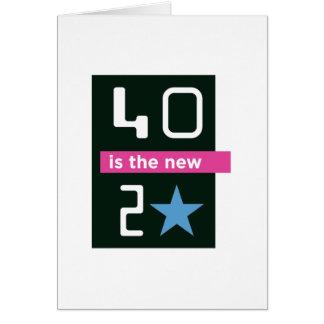 40 ist die neue Karte des Geburtstages 20
