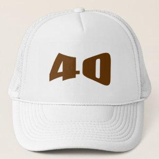 40. Jahrestags-Einladung Truckerkappe