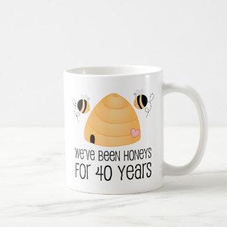 40. Jahrestags-Paar-Geschenk Tasse