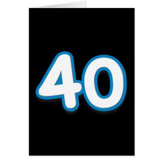 40-jähriger Geburtstag oder Jahrestag - addieren S Grußkarte