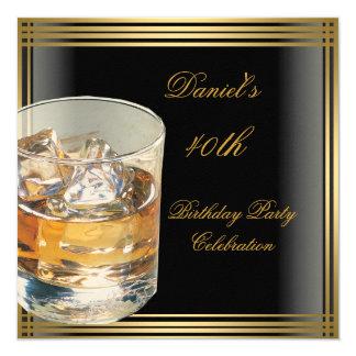 40. Kalte Getränke der Geburtstags-Männer Karte