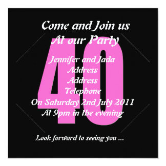 40. Party Einladung